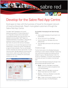 Sabre Red App Centre (for Developers)