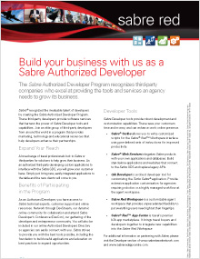 Sabre Authorized Developers (for Developers)