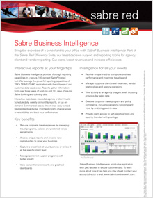 Sabre Business Intelligence (for Agencies, Corporations and TMCs)