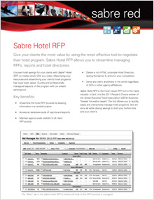 Sabre Hotel RFP (for Agencies and TMCs)