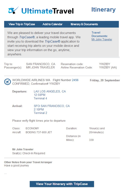 Tripcase when you book a trip for a traveler who doesnt have a tripcase account they will receive a confirmation email similar to this example thecheapjerseys Image collections